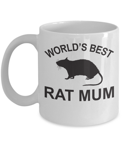 World's Best Rat Mum Mug
