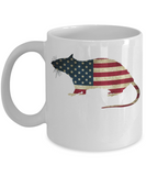 Patriotic Rat USA American Flag Mug  ♥