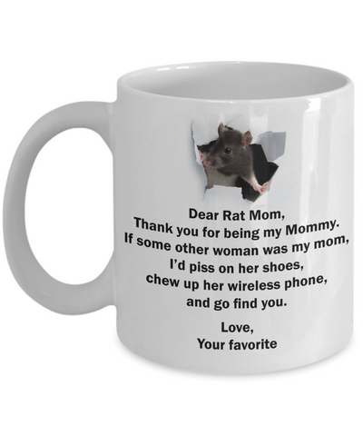 Rat Mom Funny Mug