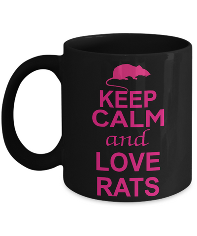 Keep Calm and Love Rats Mug
