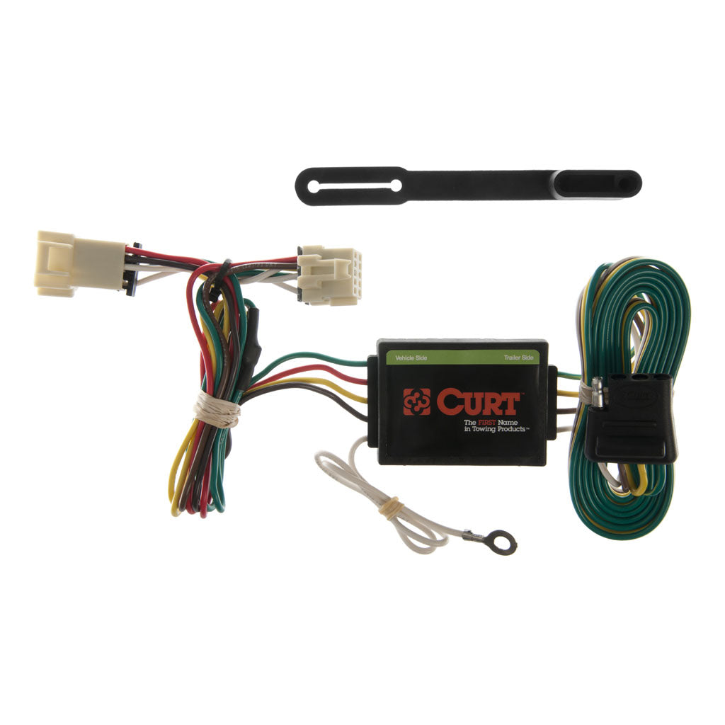Custom Wiring Harness 4 Way Flat Output 55355 Discount Hitch Curt Tconnector Vehicle For Factory Tow Package 5 Part