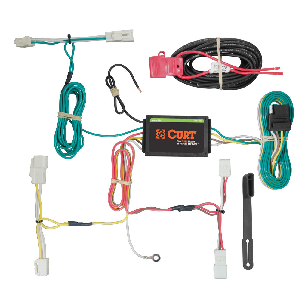 Custom Wiring Harness 4 Way Flat Output 56261 Discount Hitch Curt Tconnector Vehicle With 4pole Trailer Part