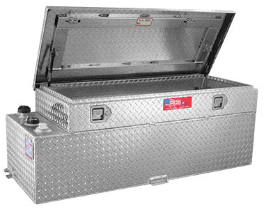 Aluminum Transfer Fuel Tank Toolbox Combo - 90 Gallon, Rectangular, Diamond Plate, Model 72894