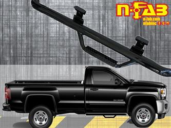 Nerf Bar Cab Length With Drop Down Steps #C1546RC