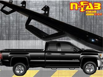 Nerf Bar Cab Length With Drop Down Steps #C1573QC
