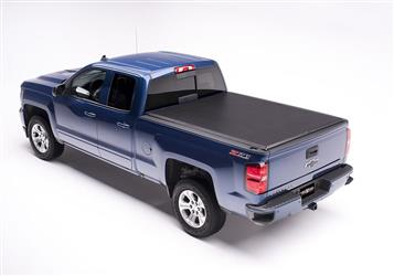 Tonneau Cover Edge Soft Roll-Up Hook And Loop Lockable Using Tailgate Handle Lock #831101
