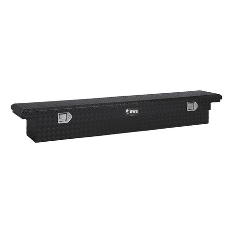 "Gloss Black Aluminum 69"" Slim-Line Truck Tool Box, Low Profile (Heavy Packaging) #EC10552"