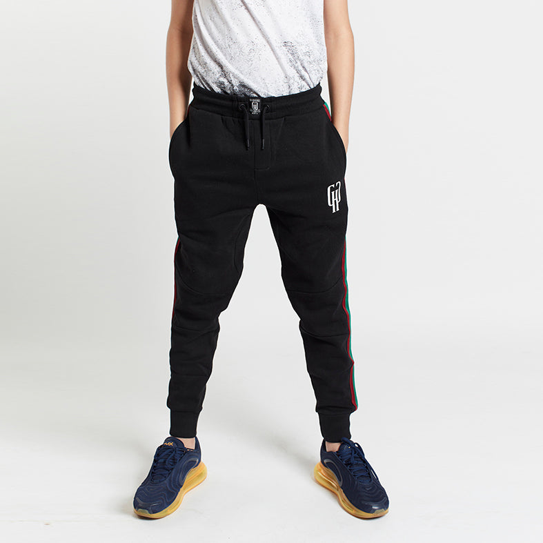 Gifted Heroes Retro Boys Jogger with taping, BLACK - GiftedHeroes