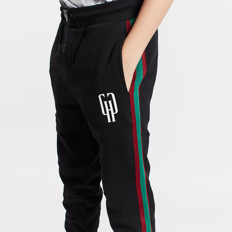 Gifted Heroes Retro Boys Jogger with taping, BLACK - Bottoms Boys - Giftedheroes