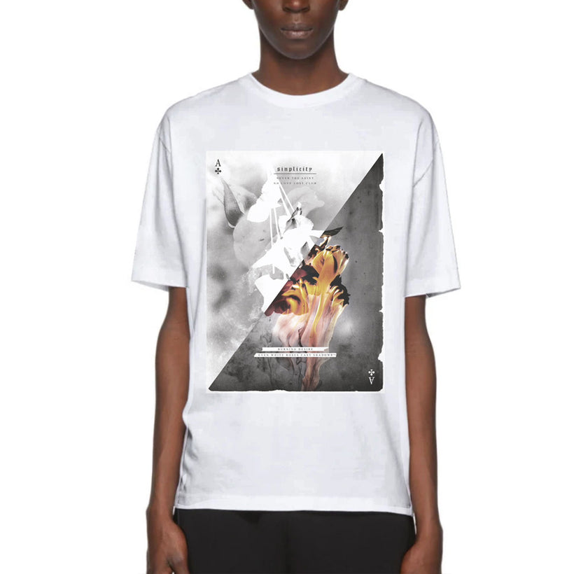 Gifted Heroes 'Burning Desire' White Men's T Shirt - T Shirts Mens - Giftedheroes
