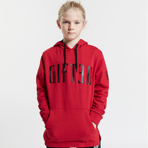 GIFTED Boys Overhead Hoodie Red - Sweats Boys - Giftedheroes