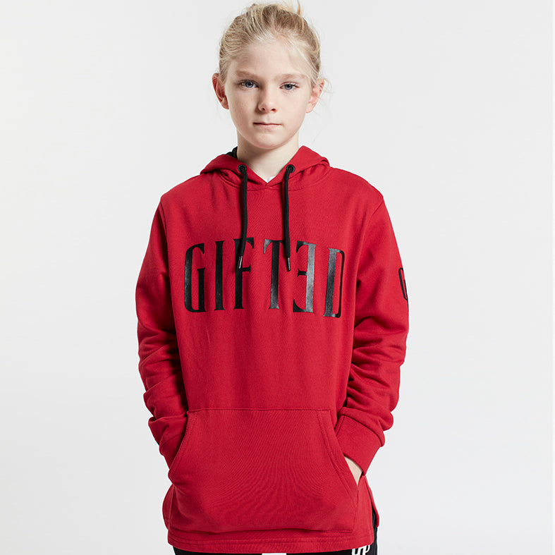 GIFTED Boys Overhead Hoodie Red