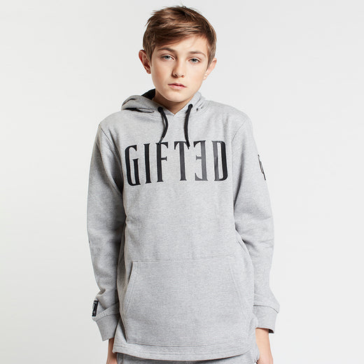GIFTED Boys Overhead Hoodie Grey Marl - Sweats Boys - Giftedheroes