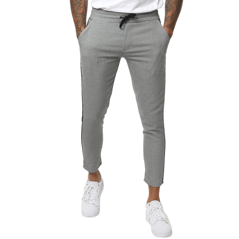 Gifted - Houndstooth Mens Woven Jogger - Bottoms - Giftedheroes