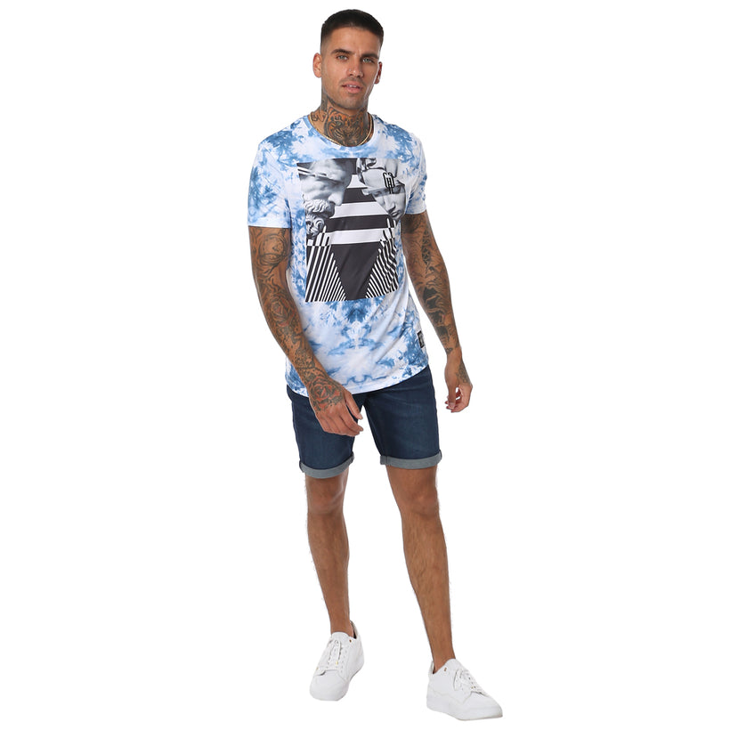 Gifted 'Dazzel Dye' All Over Printed Men's T Shirt - T Shirts Mens - Giftedheroes