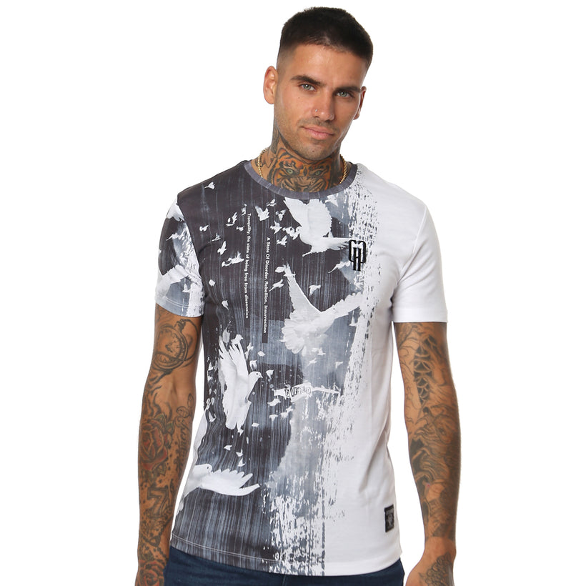 Gifted 'Dove Tales' All Over printed Men's T Shirt - T Shirts Mens - Giftedheroes
