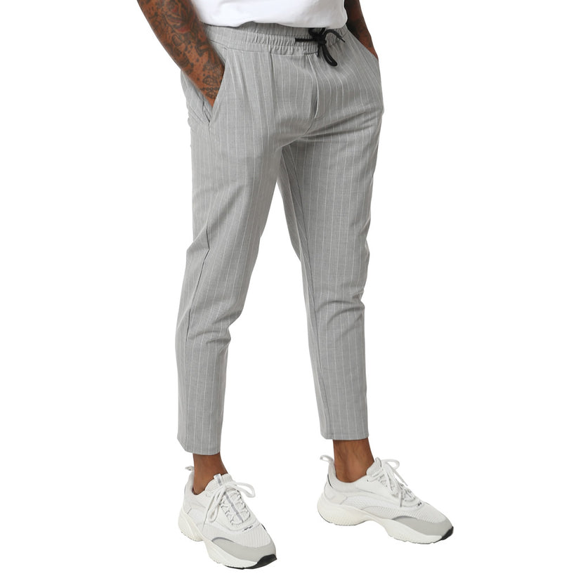 Gifted Heroes Grey Pinstripe Mens Woven Jogger - Bottoms - Giftedheroes