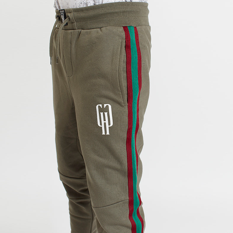 GIFTED Heroes Retro Boys Jogger with taping, OLIVE - Bottoms Boys - Giftedheroes