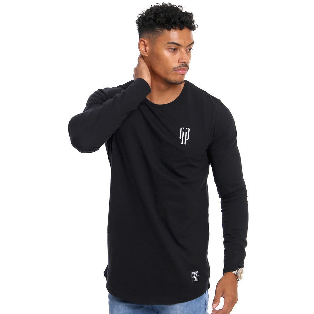 dc07e2233a9 Gifted Heroes Caviar black Muscle fit Men's long sleeve T Shirt - T Shirts  Mens -