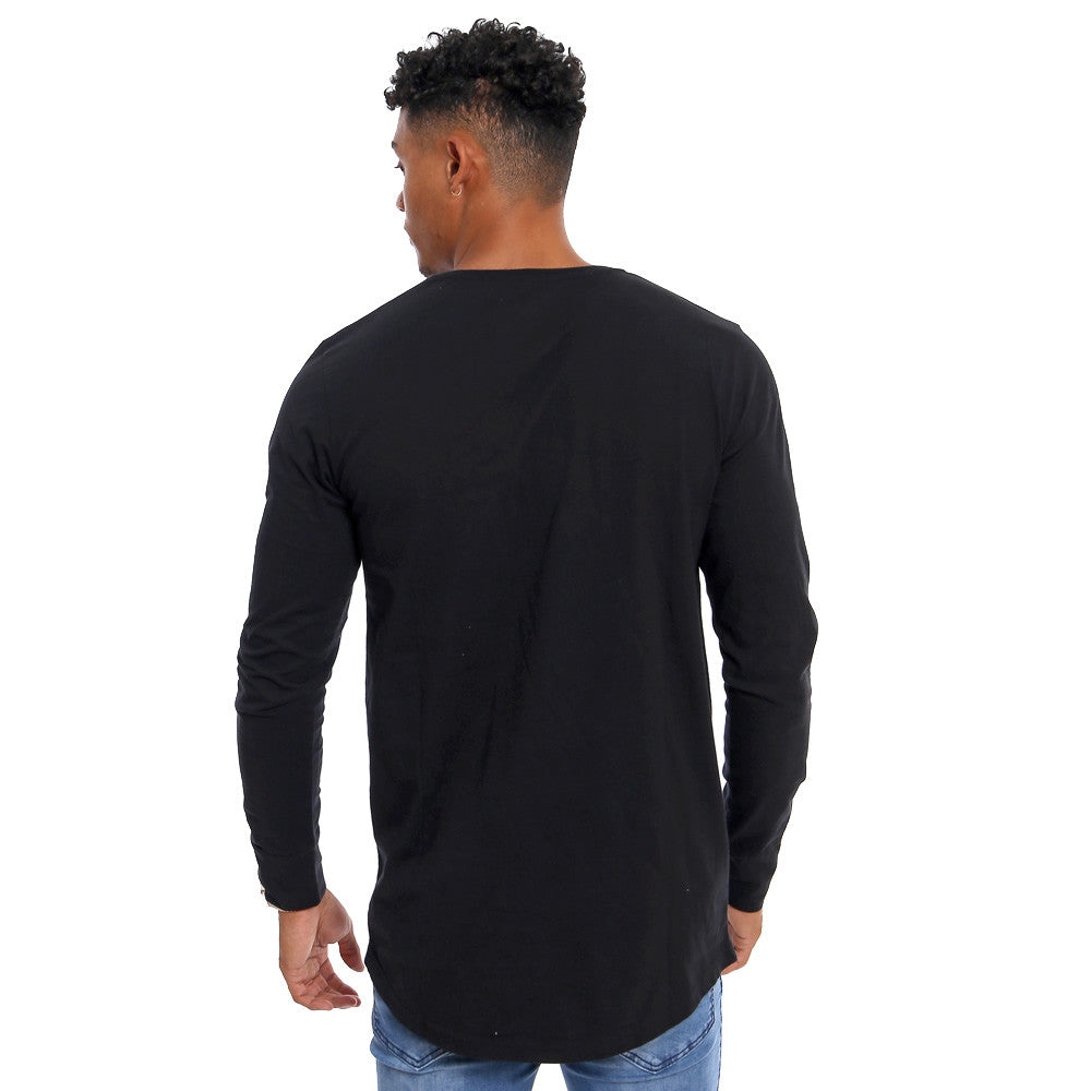 3a19e0c0 Gifted Heroes Caviar black Muscle fit Men's long sleeve T Shirt - T Shirts  Mens -