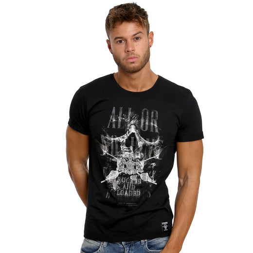Gifted Heroes 'All or Nothing' Black Men's T Shirt - GiftedHeroes