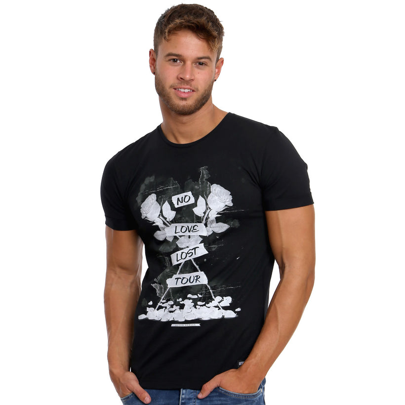 Gifted Heroes Band of Roses Men's Tee Shirt in black - T Shirts Mens - Giftedheroes