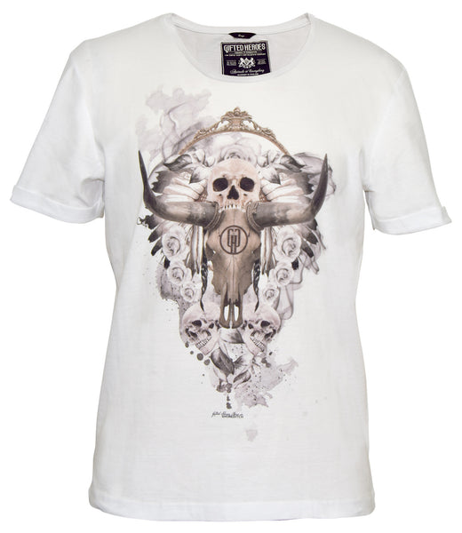 Gifted Heroes Ramskull White Men's T Shirt - T Shirts Mens - Giftedheroes