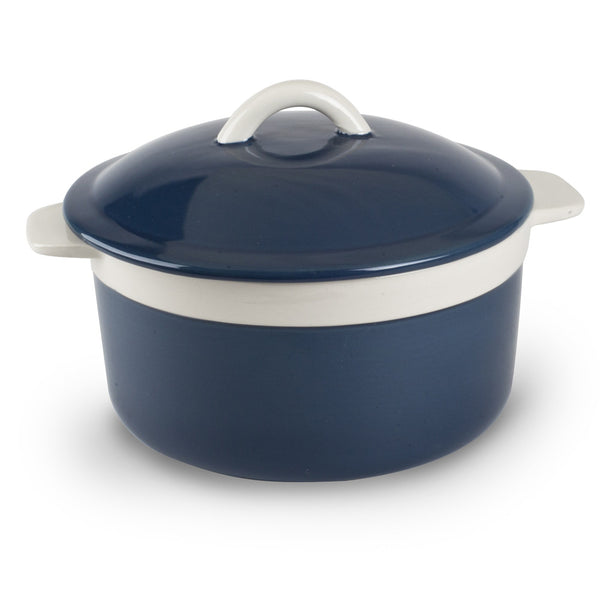 1.5qt Round Covered Stoneware Casserole