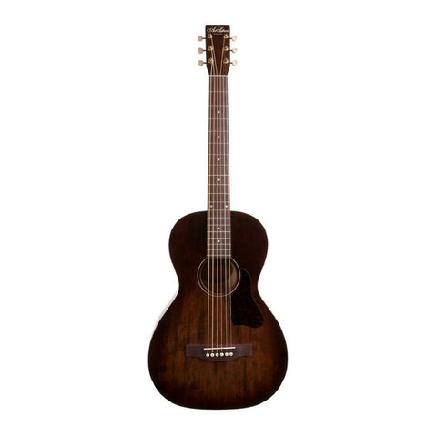 Art and Lutherie Roadhouse Parlor Acoustic Guitar With A Bourbon Burst Finish Display Photo