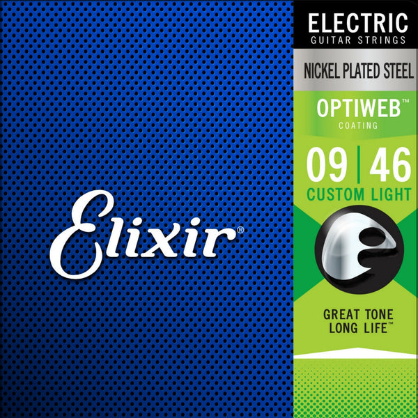 Elixir Optiweb 19027 Electric Guitar Strings 9-46 Custom Light