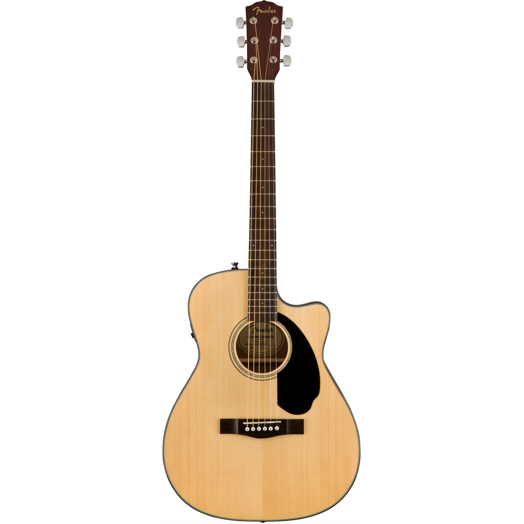 Fender CC-60SCE Acoustic Guitar Natural Display Photo