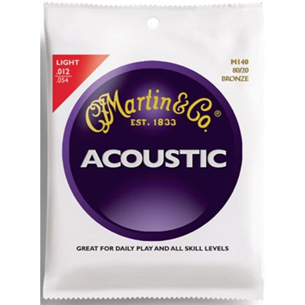 Martin M140 80/20 Bronze Acoustic Guitar Strings - Beryl Guitar Shop