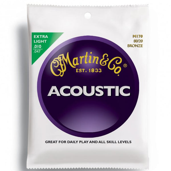 Martin M170 80/20 Bronze Acoustic Guitar Strings - Beryl Guitar Shop