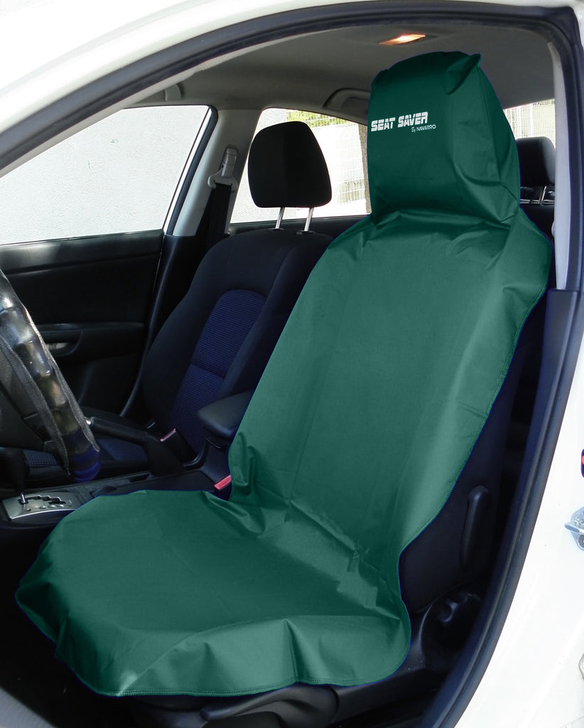 Amazing Dark Green Seat Saver Front Car Seat Cover Cjindustries Chair Design For Home Cjindustriesco