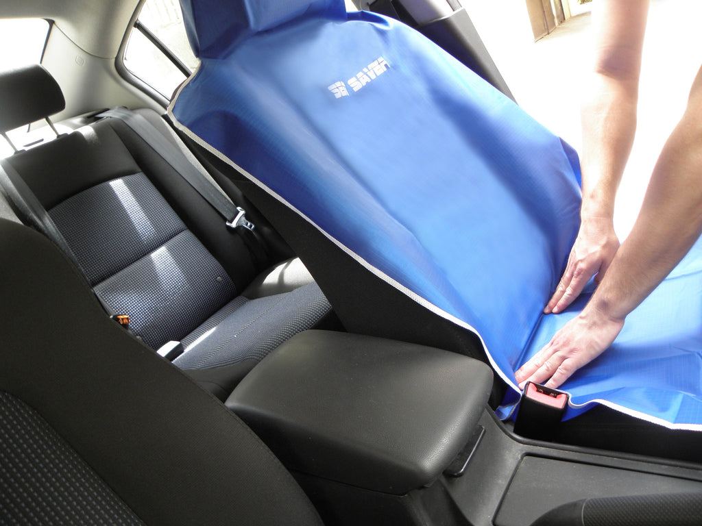 SEAT-SAVER Front Car Seat Cover - Beige - SEAT-SAVER