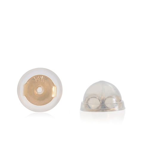 Universal-EZback-Earring-Backs-Soft-Clear-Silicone-and-14k-Yellow-Gold-Small-2-Pairs