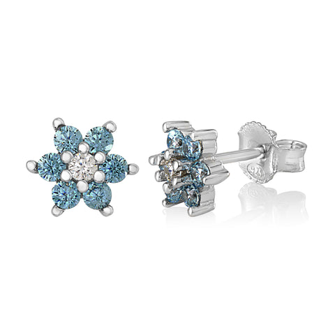 Childrens Silver Birthstone Earring Italy B0791M8TX1 UJEP 5103 SRH CBL