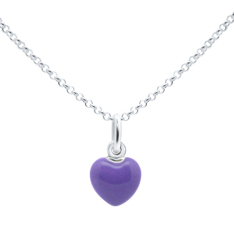 Unicornj-Sterling-Silver-Childrens-Pendant-with-Purple-Heart-Charm