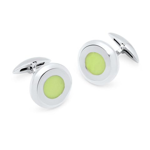 Zsamuel-Mens-Sterling-Silver-Glow-in-Dark-Round-Cufflinks