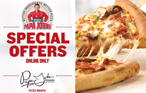 Papa johns online offers