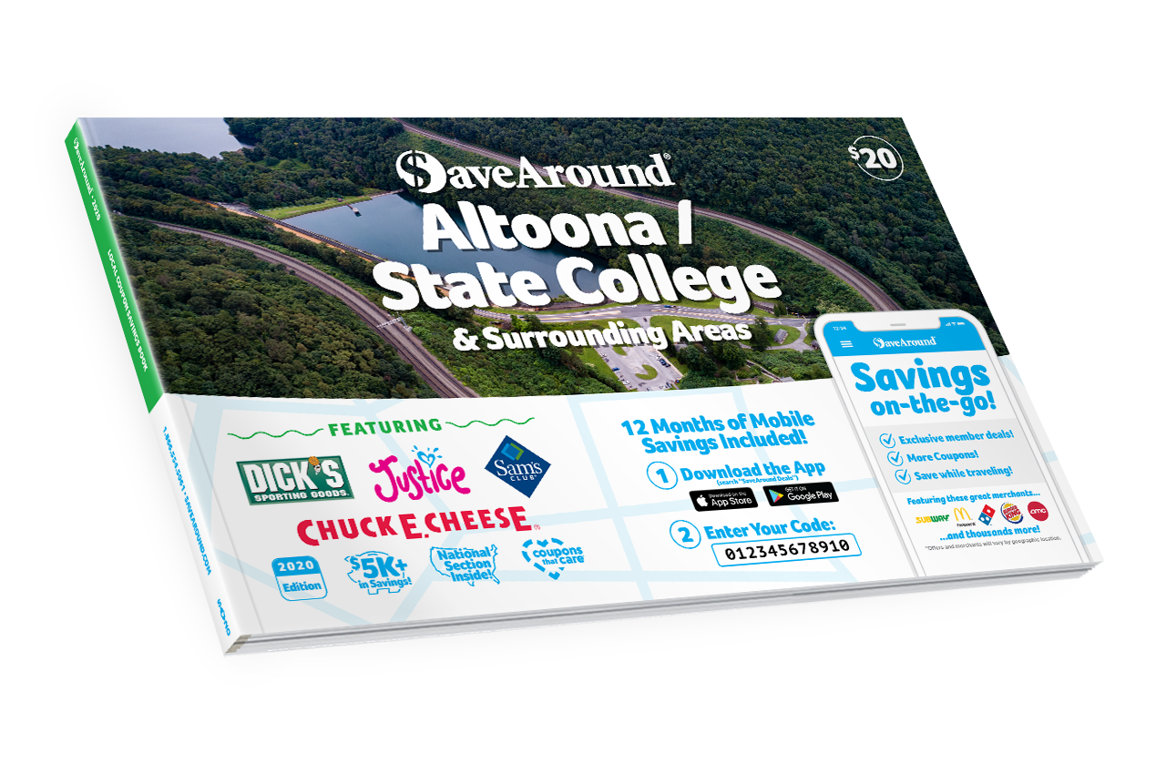 Altoona / State College, PA 2020 SaveAround® Coupon Book
