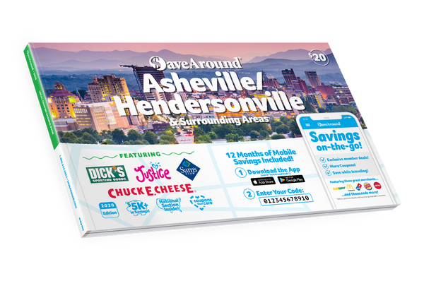 Asheville/Hendersonville & Surrounding Areas, NC 2020 SaveAround<sup>®</sup> Coupon Book
