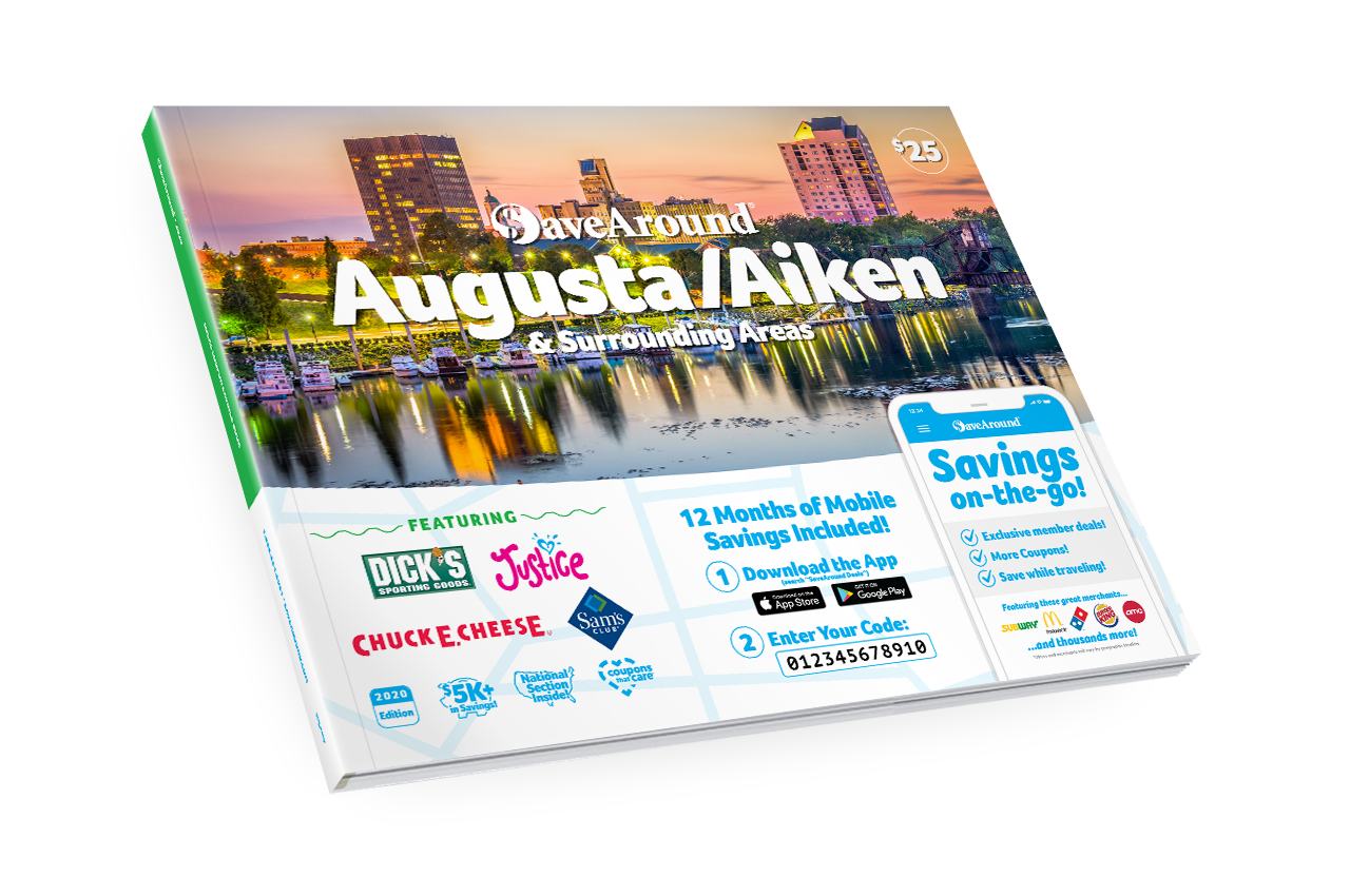 Augusta/Aiken & Surrounding Areas, GA 2020 SaveAround® Coupon Book