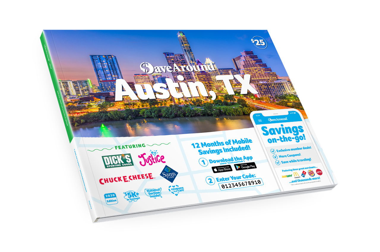 Austin, TX 2020 SaveAround<sup>®</sup> Coupon Book