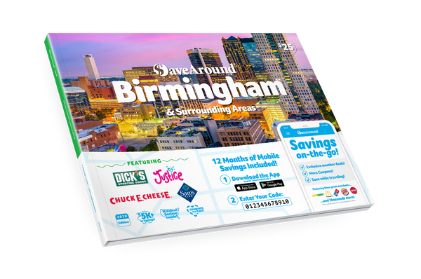 Birmingham & Surrounding Areas, AL 2020 SaveAround<sup>®</sup> Coupon Book