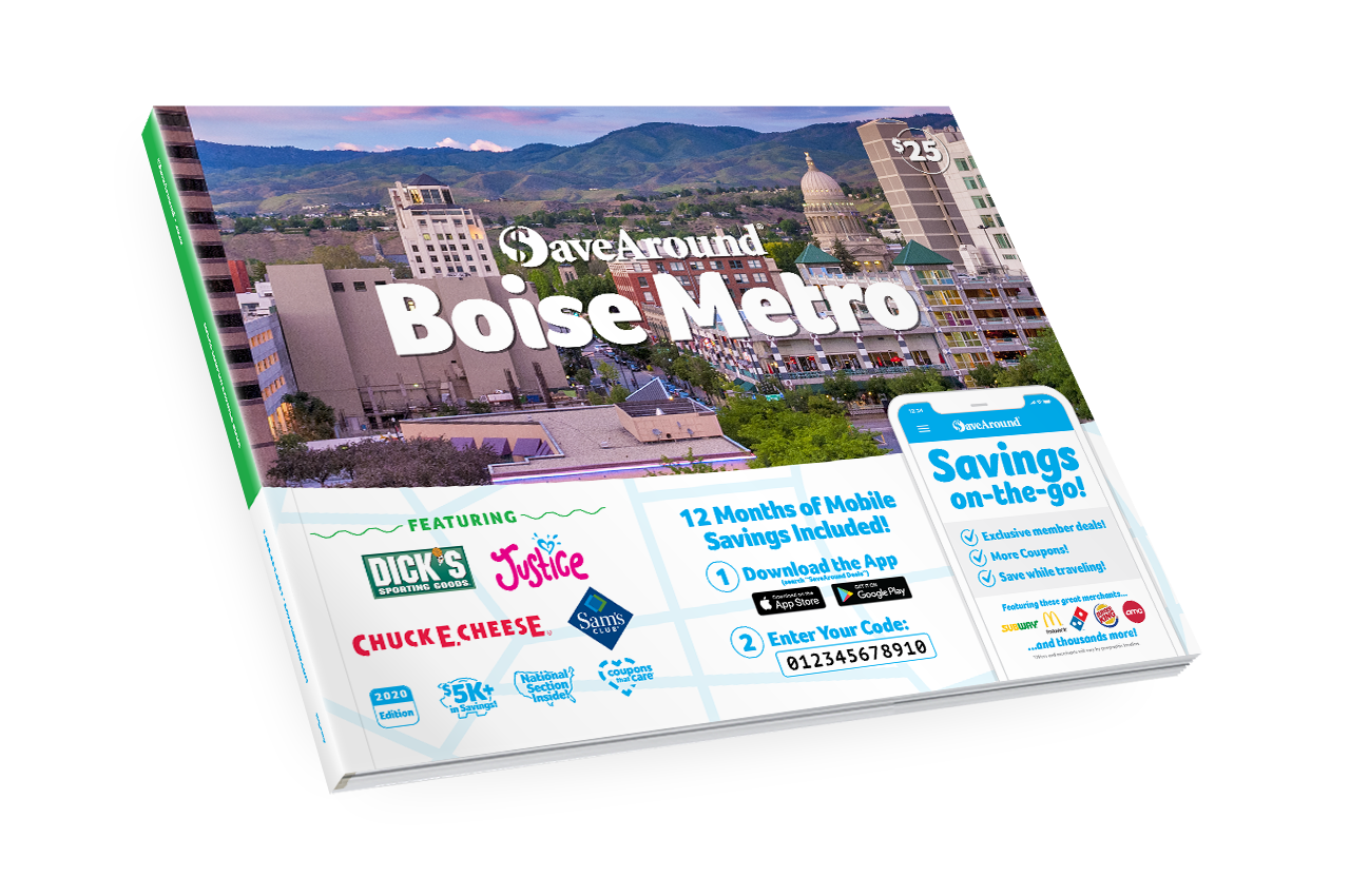 Boise Metro, ID 2020 SaveAround<sup>®</sup> Coupon Book