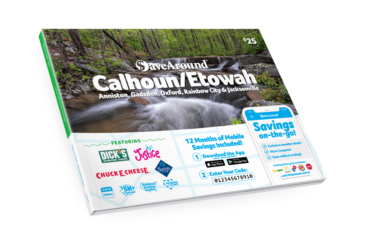 Calhoun / Etowah, AL 2020 SaveAround<sup>®</sup> Coupon Book