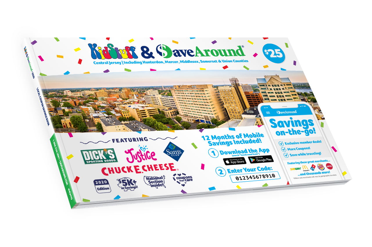 Central Jersey, NJ 2020 SaveAround® Coupon Book