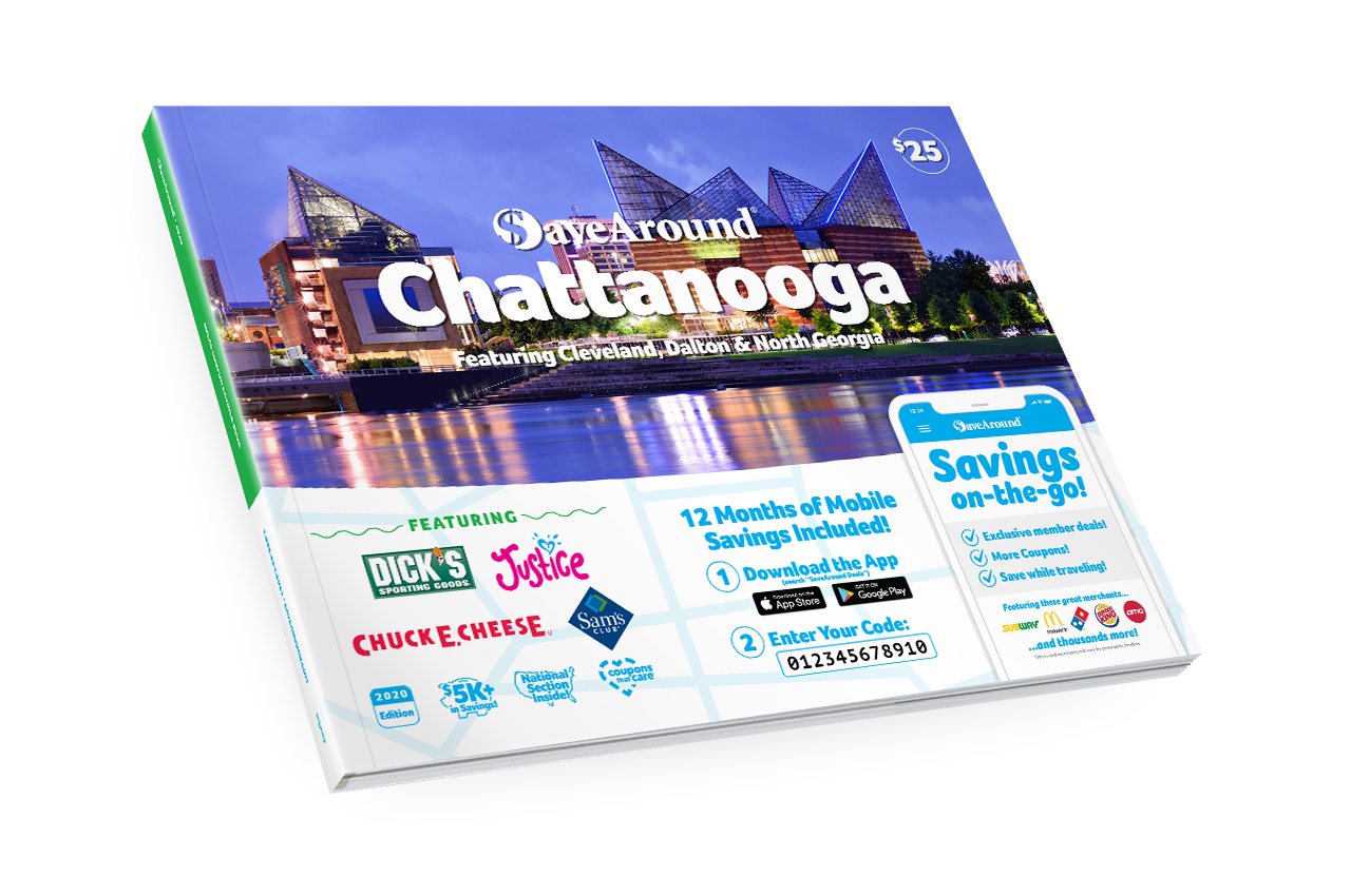 Chattanooga, TN 2020 SaveAround® Coupon Book