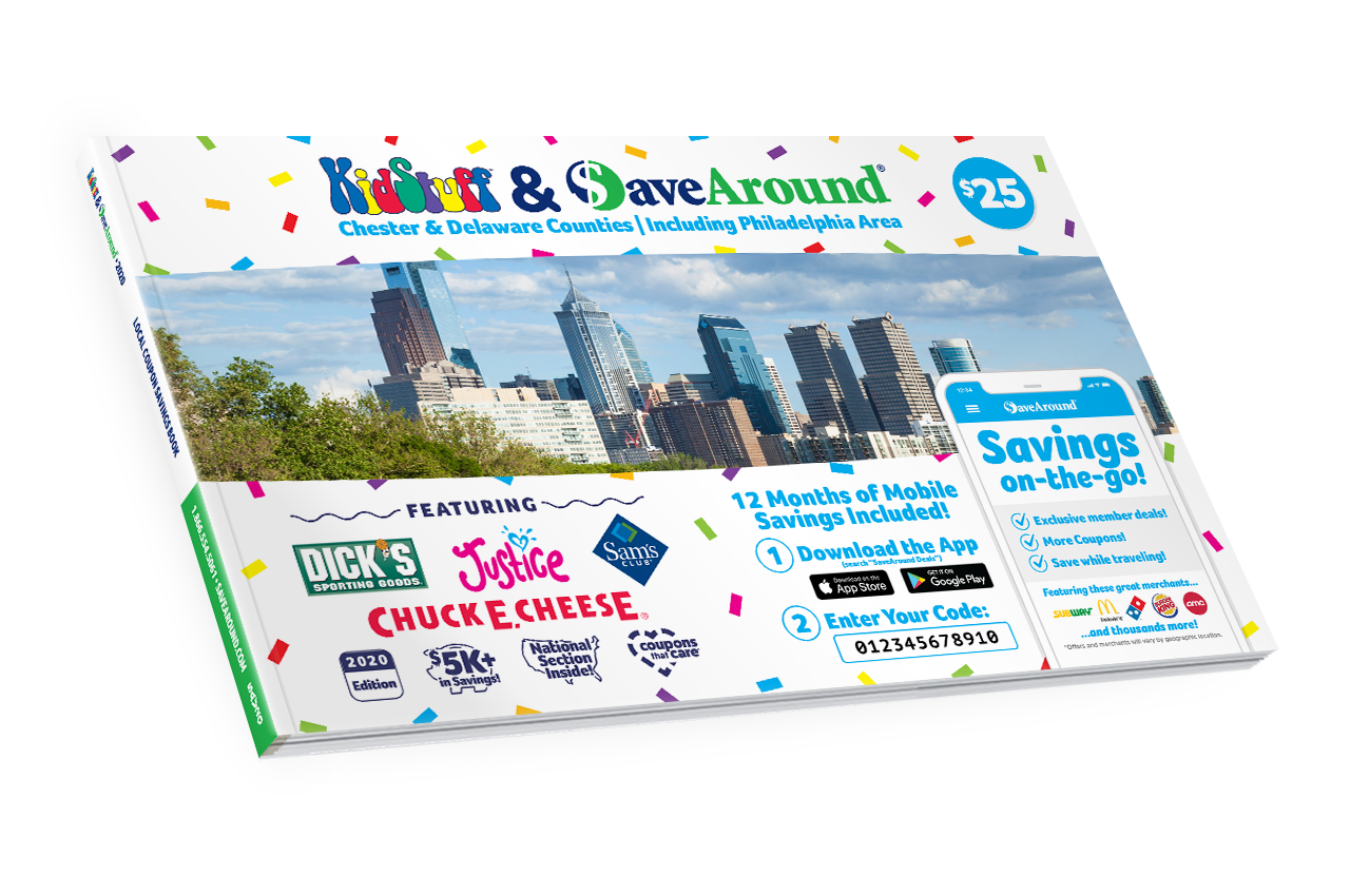 Chester & Delaware Counties, PA 2020 SaveAround® Coupon Book